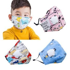 Reusable Protective Face Mask With Breathing Valve For Children